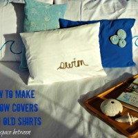 upcycle old shirts {pillow covers}