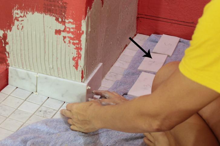tiling a bathroom
