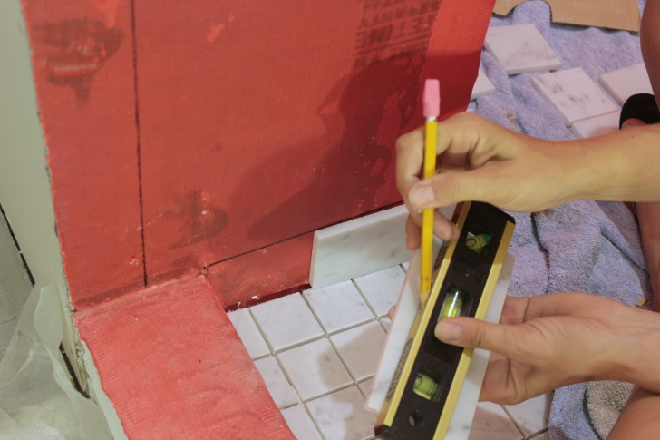 tips for tiling a bathroom with marble tile