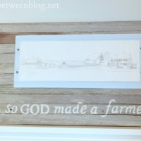 upcycling idea – one of a kind picture frame {and for some reason some thoughts on religion}