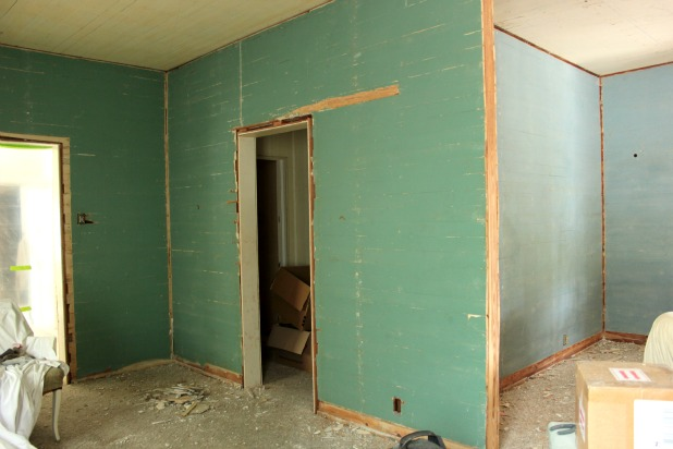 dade county pine wall painted