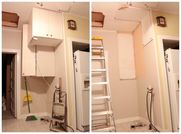 washer and dryer corner
