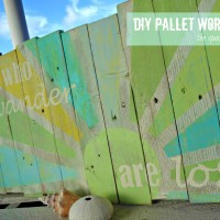easy diy pallet word art