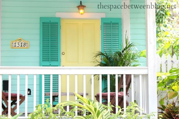Aqua painted front doors - Front Door Colors And Using Key West Front Doors For