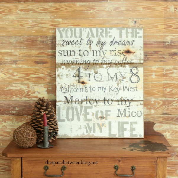 easy craft idea - you are the word art